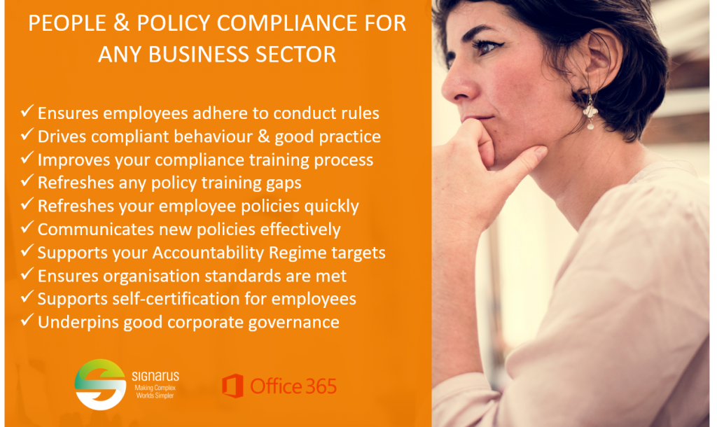 Signarus solutions for people and policy compliance in Office 365